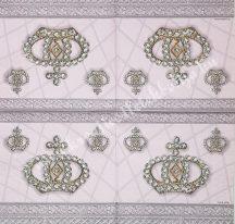Szalvéta, trendi, korona, 32x32 cm, 1 darab