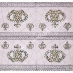 Szalvéta, trendi 5., korona, 33x33 cm