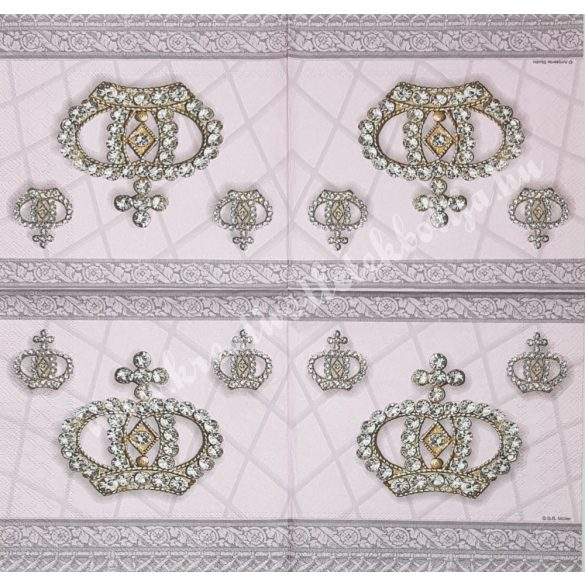 Szalvéta, trendi, korona, 33x33 cm (5)