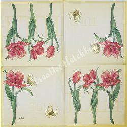 Szalvéta, tulipán, 33x33 cm (12)