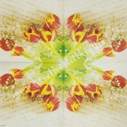 Szalvéta, tulipán, 33x33 cm (14)