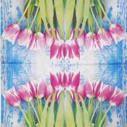 Szalvéta, tulipán, 32x32 cm, 1 darab