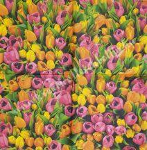 Szalvéta, tulipán, 32x32 cm