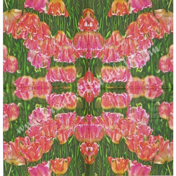 Szalvéta, tulipán, 25x25 cm (2)