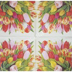 Szalvéta,  tulipán  33x33 cm (5)