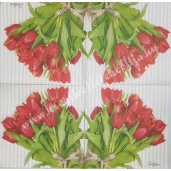 Szalvéta, tulipán, 33x33 cm (8)
