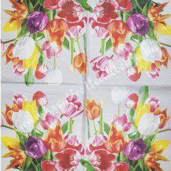 Szalvéta tulipán 33x33cm (9)