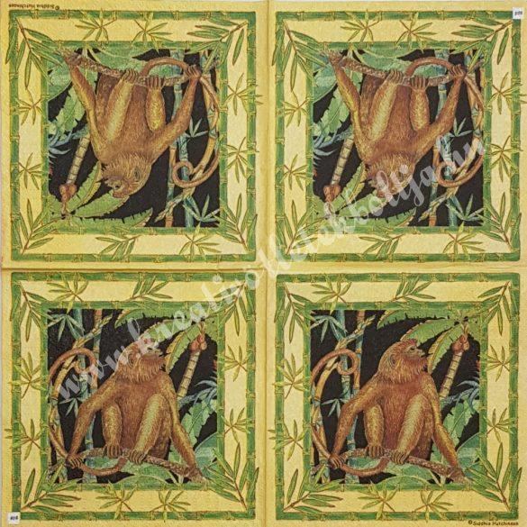 Szalvéta, vadállatok, majom, 25x25 cm (16)