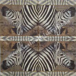 Szalvéta, vadállatok 18., zebra, 33x33 cm