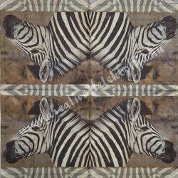 Szalvéta, vadállatok, zebra, 33x33 cm (18)