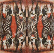 Szalvéta, vadállatok, zebra, 32x32 cm, 1 darab