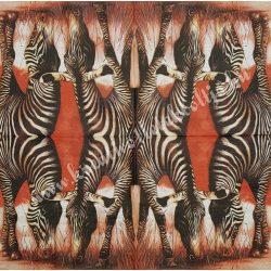 Szalvéta, vadállatok 21., zebra, 33x33 cm