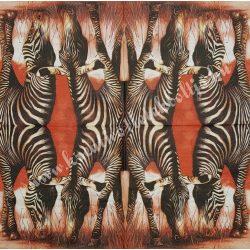 Szalvéta, vadállatok, zebra, 33x33 cm (21)