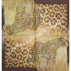 Szalvéta, vadállatok, leopárd, 33x33 cm (23)