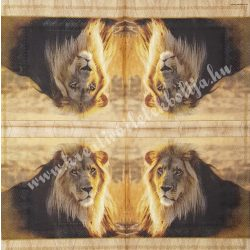Szalvéta, vadállatok 26., oroszlán, 33x33 cm