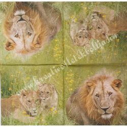 Szalvéta, vadállatok 27., oroszlán, 33x33 cm