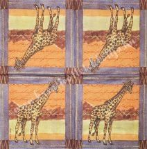 Szalvéta, vadállatok, zsiráf, 32x32 cm, 1 darab
