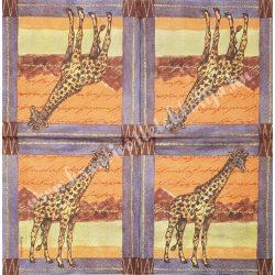 Szalvéta, vadállatok 32., zsiráf, 33x33 cm