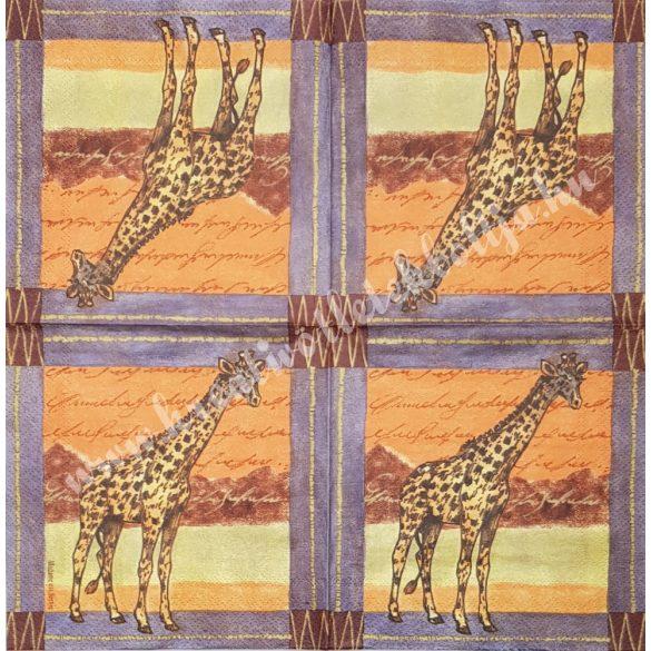 Szalvéta, vadállatok, zsiráf, 33x33 cm (32)
