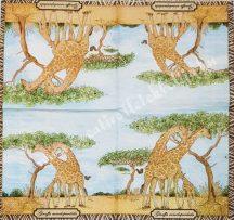 Szalvéta, vadállatok, zsiráf, 25x25 cm, 1 darab