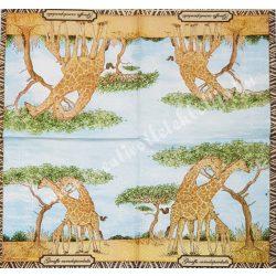 Szalvéta, vadállatok 33., zsiráf, 25x25 cm
