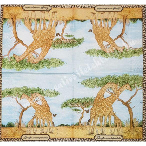 Szalvéta, vadállatok, zsiráf, 25x25 cm (33)