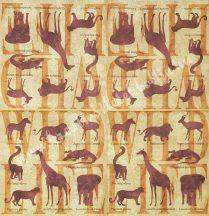 Szalvéta, vadállatok, vegyes, 32x32 cm, 1 darab