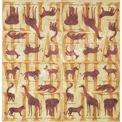 Szalvéta, vadállatok, vegyes, 33x33 cm (38)