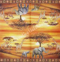 Szalvéta, vadállatok, szafari, 32x32 cm, 1 darab