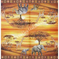 Szalvéta, vadállatok, szafari, 33x33 cm (41)