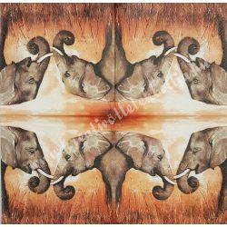 Szalvéta, vadállatok, elefánt, 33x33 cm (7)