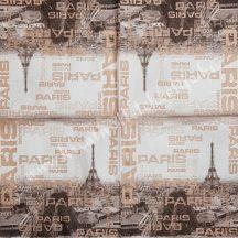 Szalvéta, városok, 32x32 cm,Párizs, Eiffel-torony, 1 darab