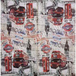 Szalvéta, városok, 32x32 cm, London, 1 darab