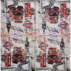 Szalvéta, városok, 33x33 cm, London (28)