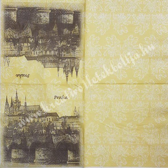 Szalvéta, városok, 33x33 cm, Prága (16)