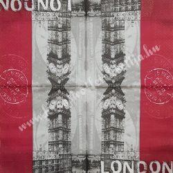 Szalvéta, városok, 32x32 cm, London (Big Ben), 1 darab