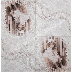 Szalvéta, vintage, 33x33 cm (17)