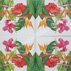 Szalvéta, virágok 61., 33x33 cm