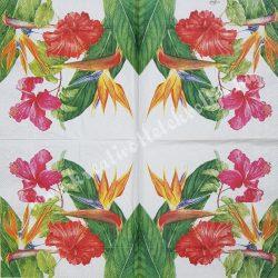 Szalvéta, virágok, 33x33 cm (61)