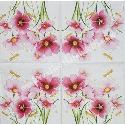 Szalvéta, virágok 1., 33x33 cm