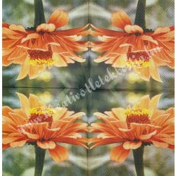 Szalvéta, virágok 11., gerbera, 33x33 cm
