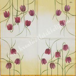 Szalvéta, virágok 18., harangvirág, 33x33 cm