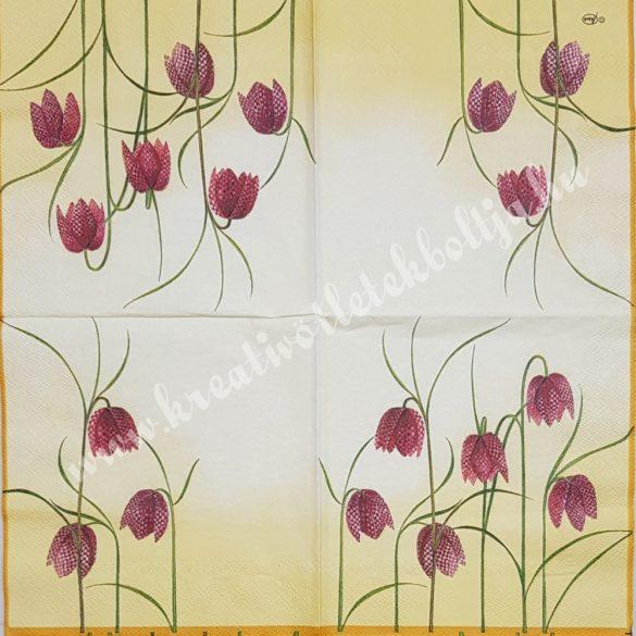 Szalvéta, virágok, harangvirág, 33x33 cm (18)