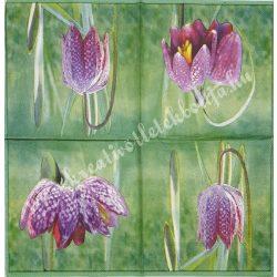 Szalvéta, virágok 19., 33x33 cm