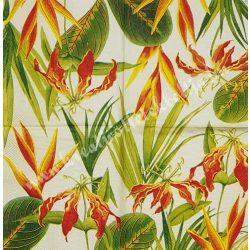 Szalvéta, virágok 2., liliom, 25x25 cm