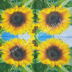 Szalvéta, virágok 23., napraforgó, 33x33 cm