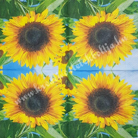 Szalvéta, virágok, napraforgó, 33x33 cm (23)