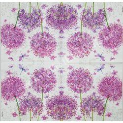 Szalvéta, virágok 27., 33x33 cm