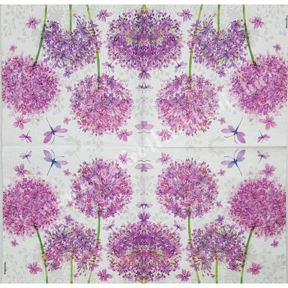 Szalvéta, virágok, 33x33 cm (27)