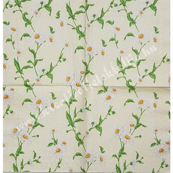 Szalvéta, virágok, margaréta, 25x25 cm (35)